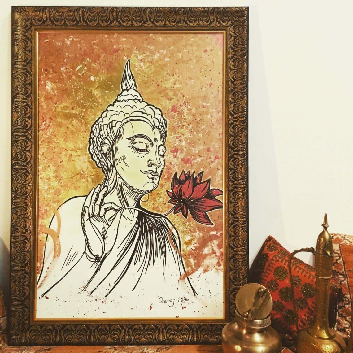 "Meet India's First Artist ""Dhanraj Sagar Shelke"" making Oil Portraits with 24 Karat Gold Plating"