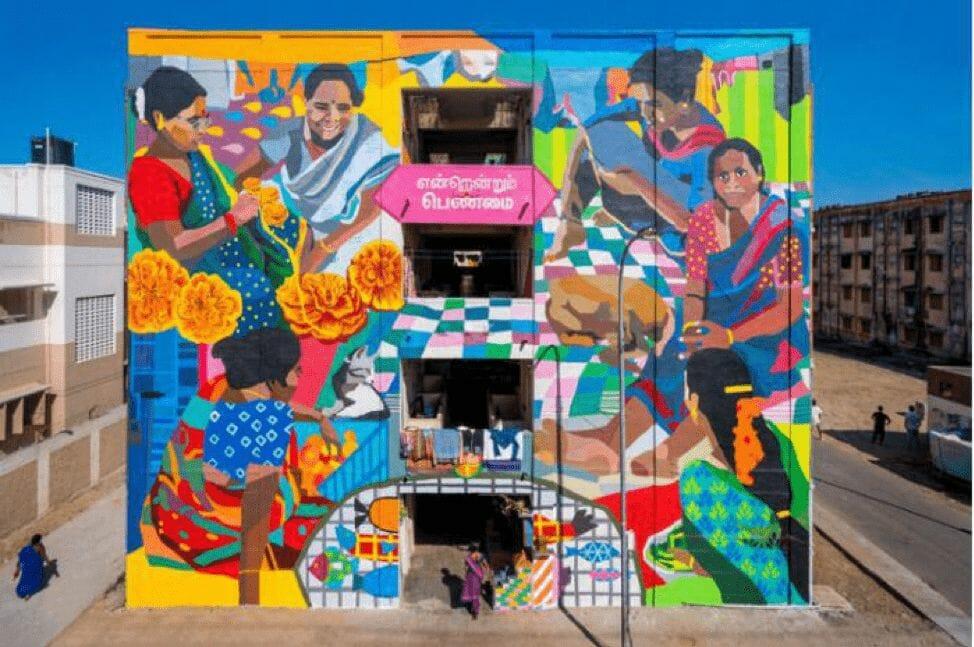 Chennai's Kannagi Nagar transforms into an art district