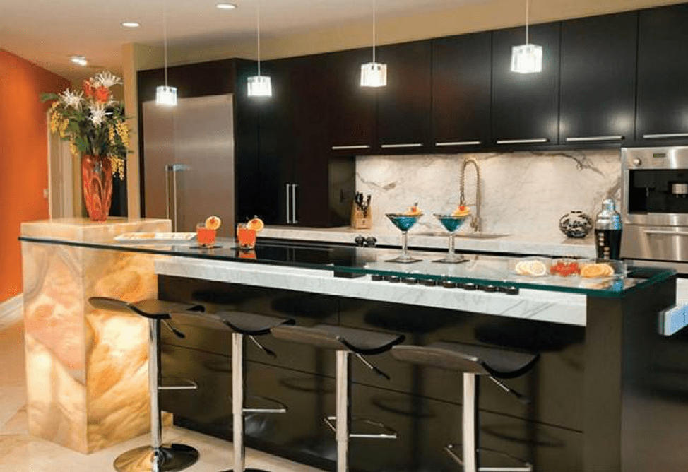 Ideas for designing a mini-bar at home