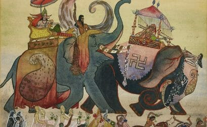 Jehangir Sabavala, The Festival, circa 1942, was offered at AstaGuru's Collectors Choice Modern Indian Art Auction in June 2021. Image courtesy of AstaGuru
