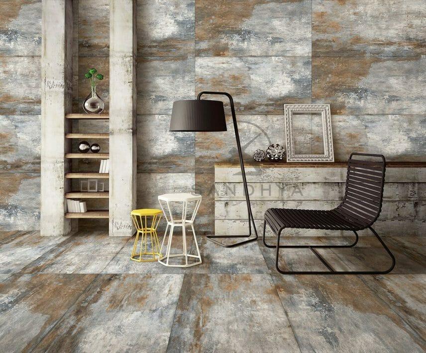 Modernize your interiors with Plutonic Azul tiles.
